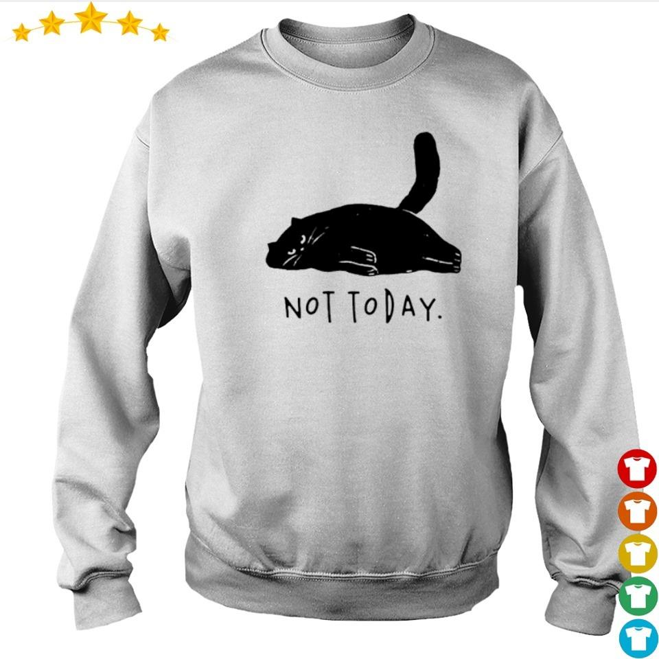 Lazy black cat not today s sweater