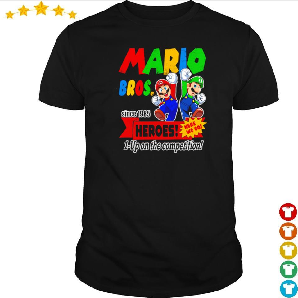 Mario bros since 1985 heroes up on the competition shirt