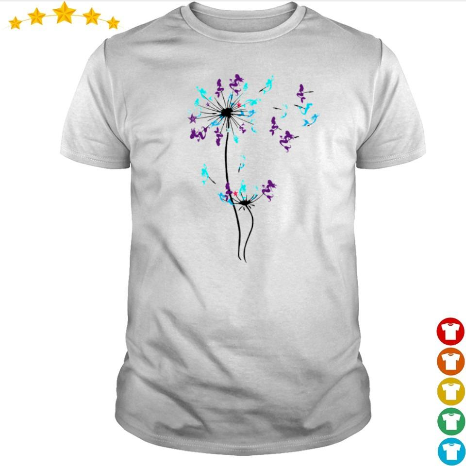 Mermaid dandelion cartoon shirt