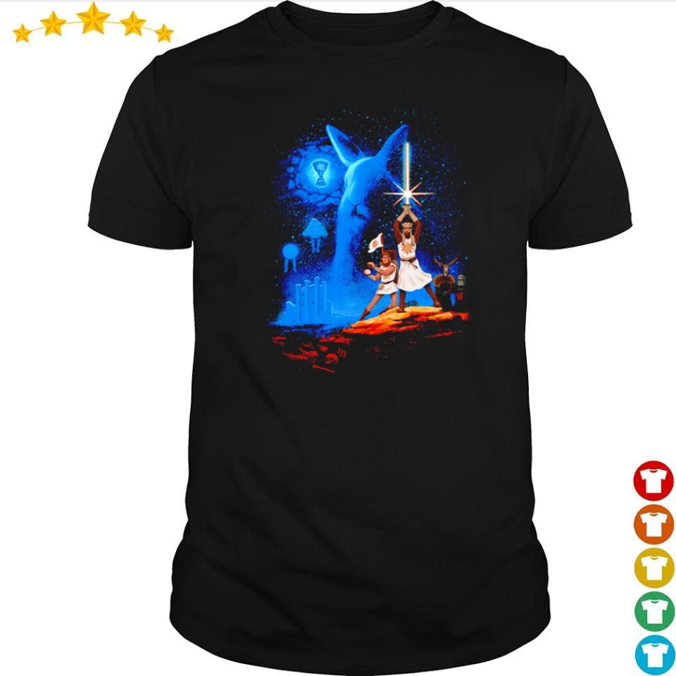 Monty Python and the Holy Grail Grail Wars Starwar shirt