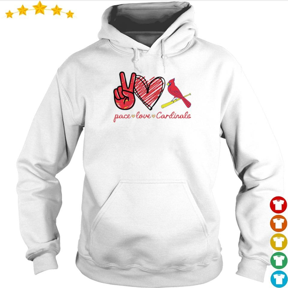 Peace love and Cardinals s hoodie