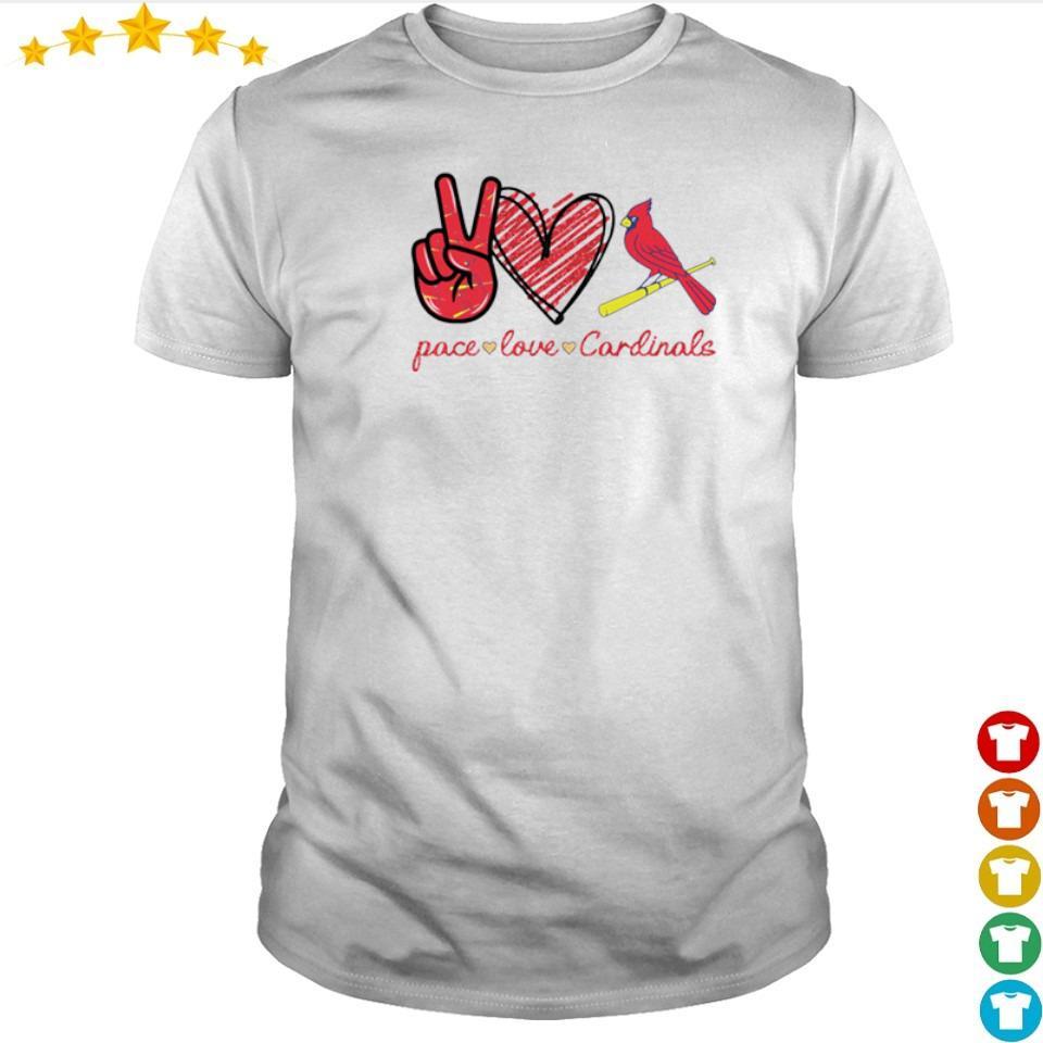 Peace love and Cardinals shirt