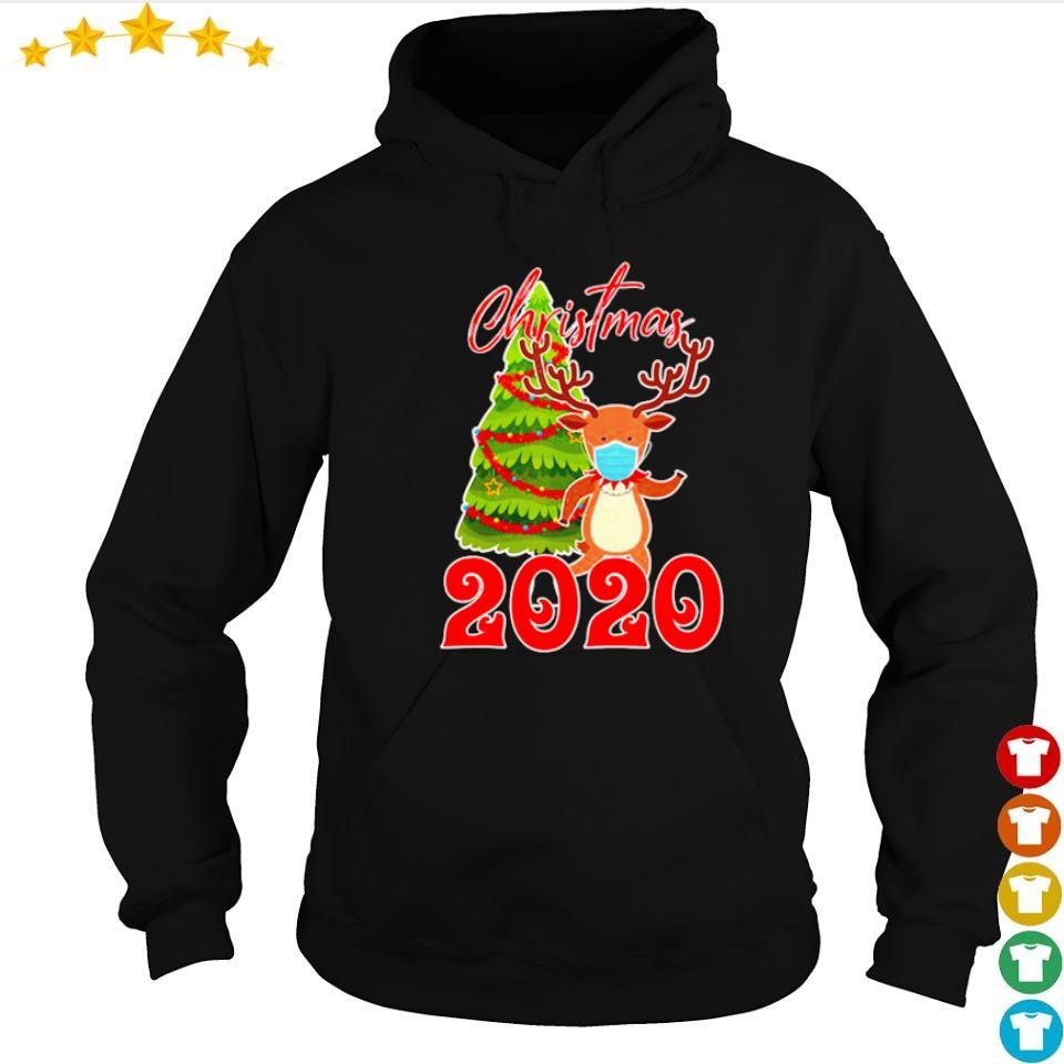 Reindeer wearing mask 2020 merry Christmas s hoodie