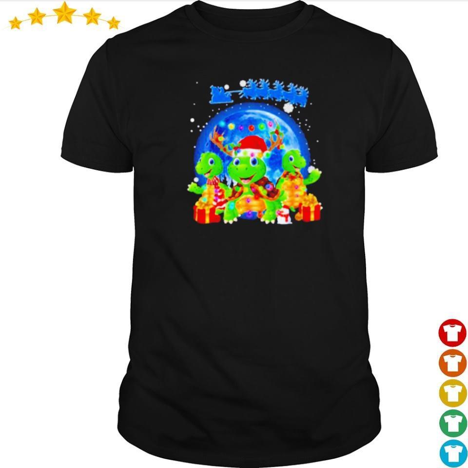 Santa and turtles merry Christmas shirt