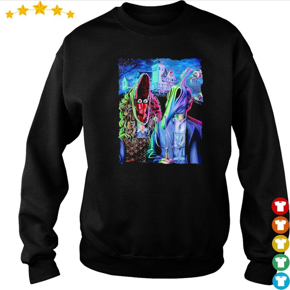 Scary Beetlejuice gothic happy Halloween s sweater