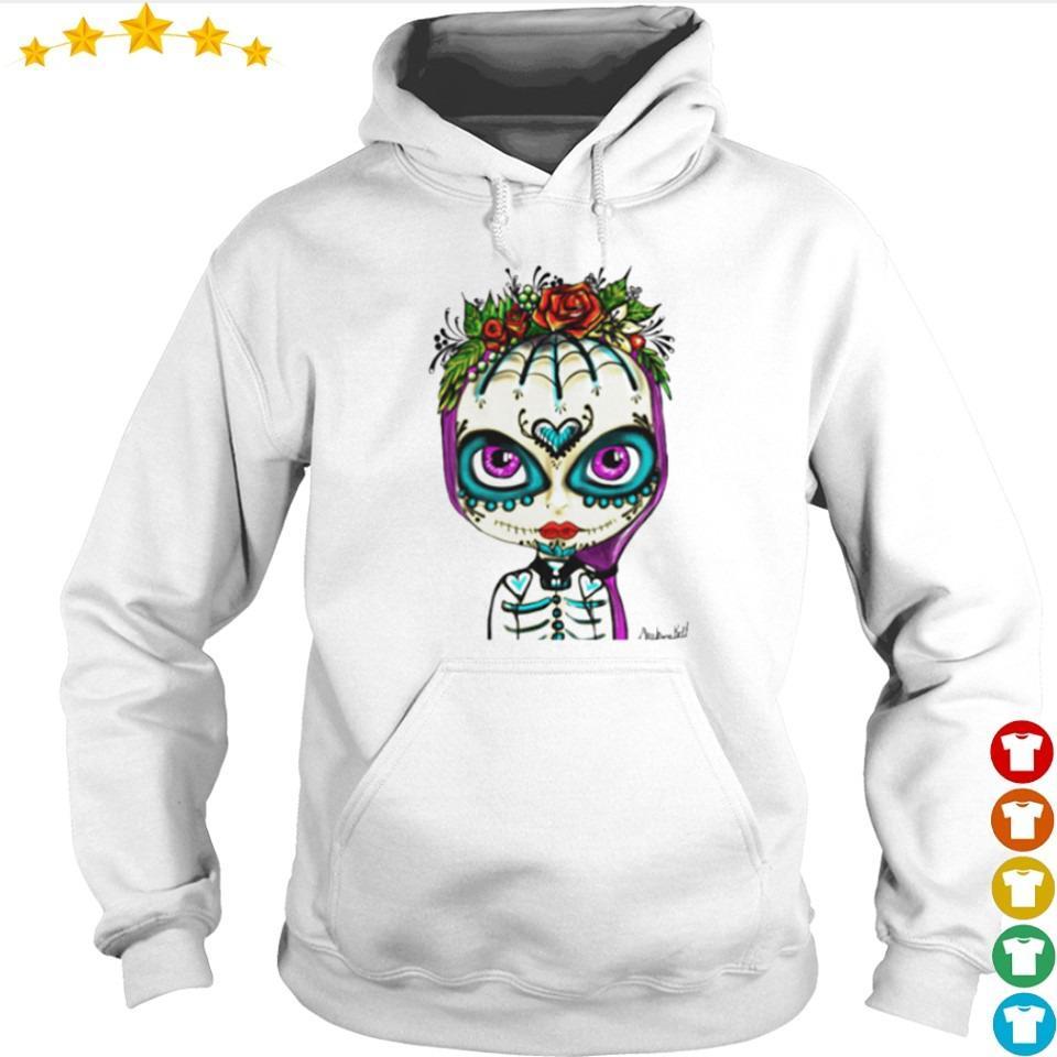 Skull rose girl day of the dead muertos s hoodie