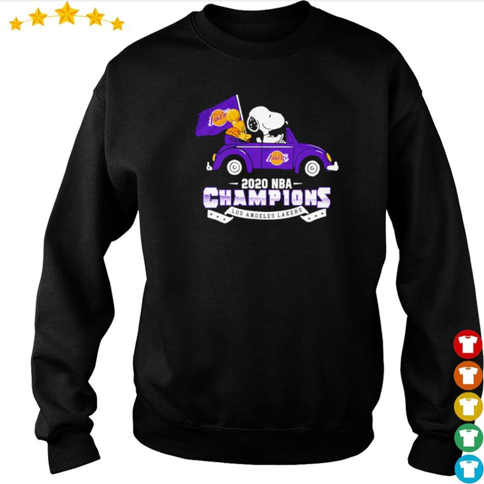 Snoopy riding 2020 NBA champions Los Angeles Lakers s sweater