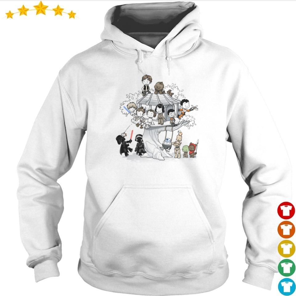 Star Wars chibi characters playing together s hoodie