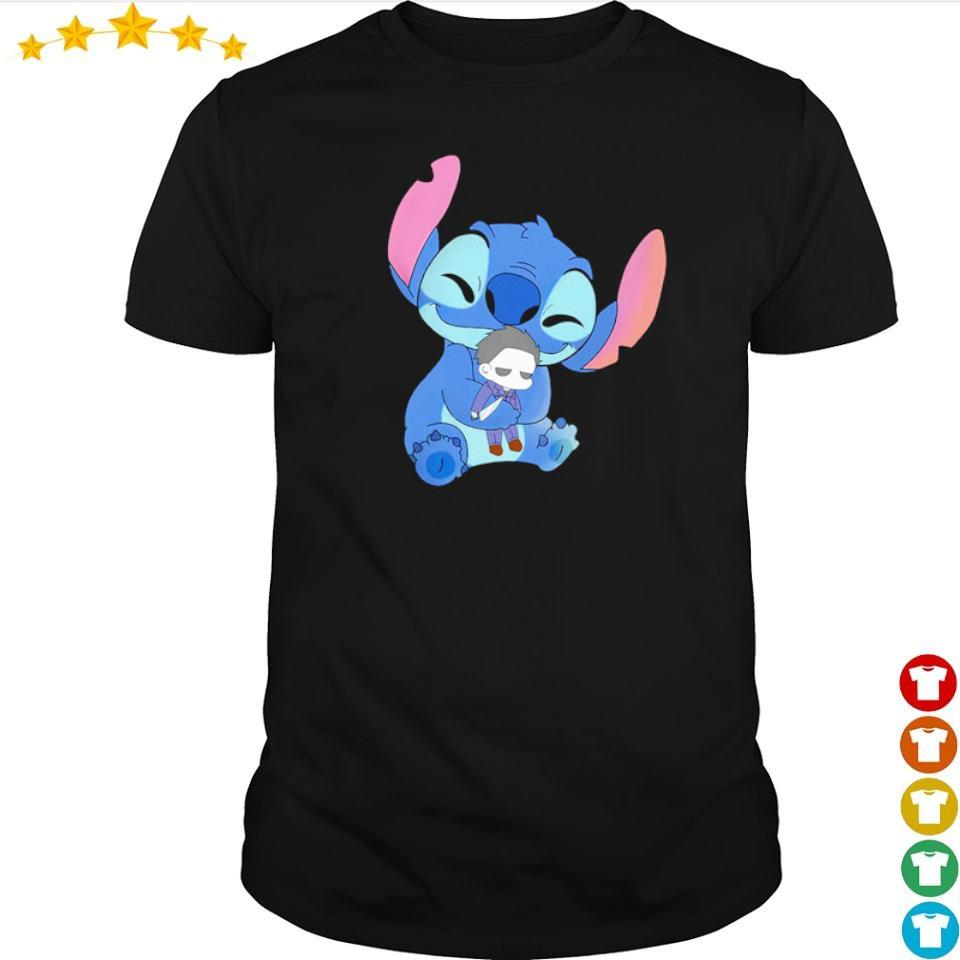 Stitch hug baby Michael Myers shirt