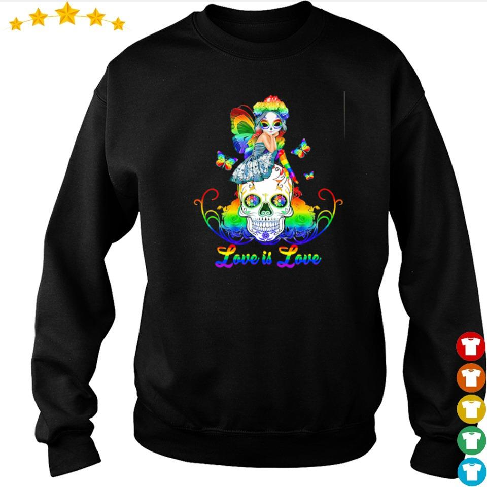 Sugar skull and Fairy love is love s sweater