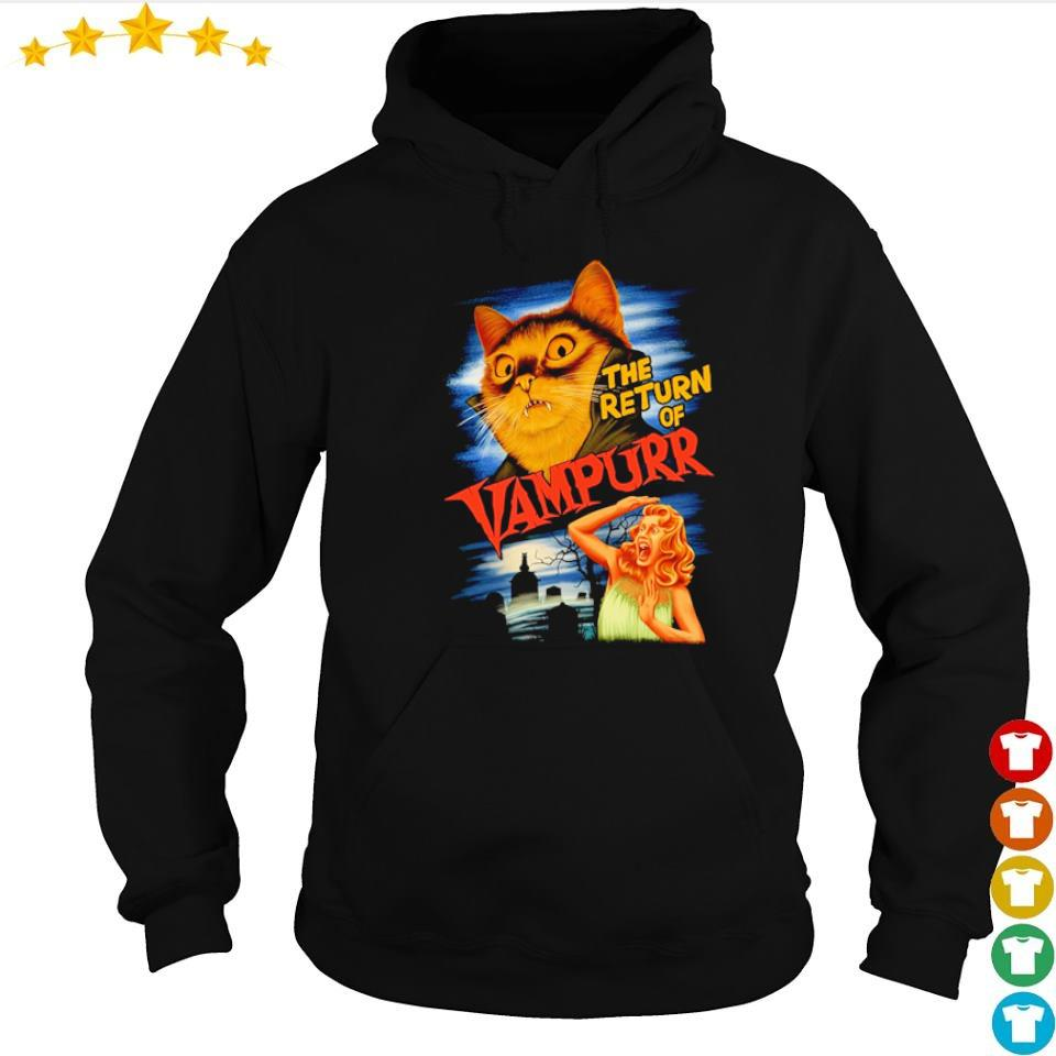 The return of Vampurr Cat happy Halloween s hoodie