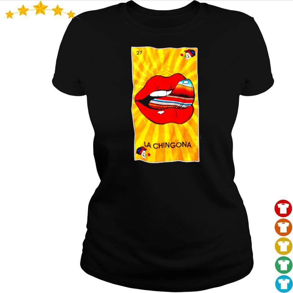 The Rolling Stones lips la chingona 27 s ladies tee