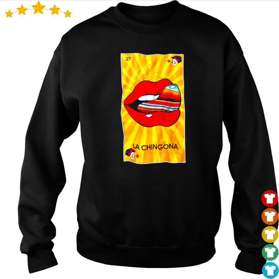 The Rolling Stones lips la chingona 27 s sweater