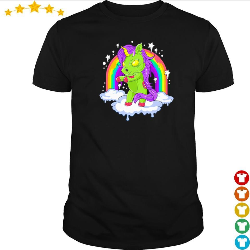 Unicorn zombie zombicorn Halloween shirt