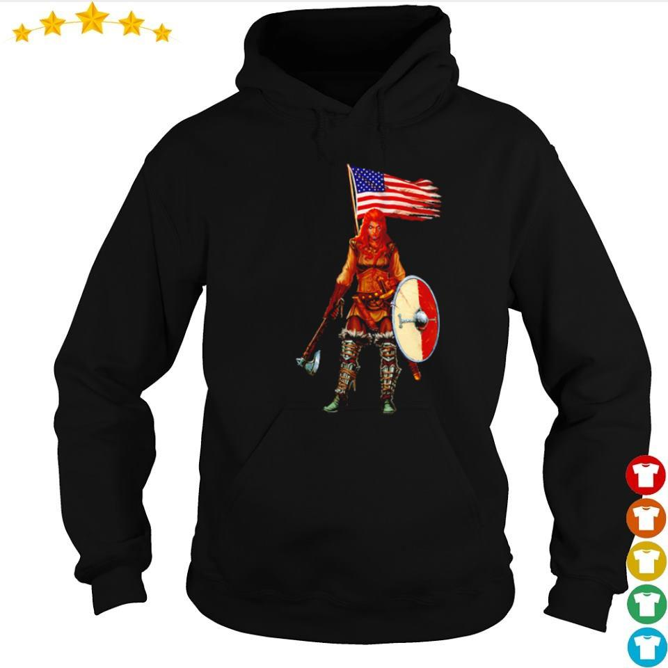 Viking valhalla lady American Flag s hoodie