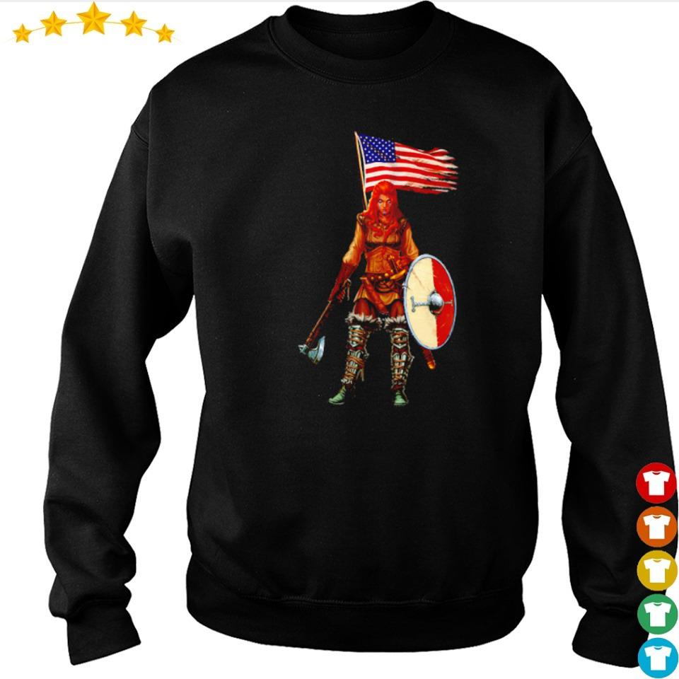 Viking valhalla lady American Flag s sweater