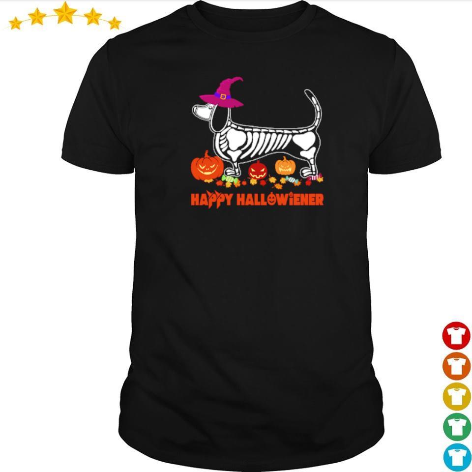 Wiener tattoo skeleton happy Hallowiener shirt