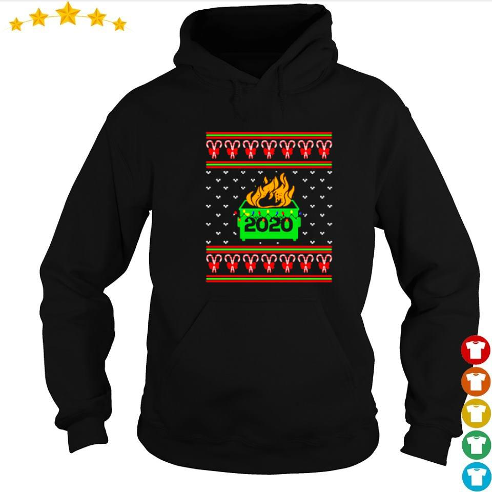2020 dumpster on fire merry Christmas 2020 sweater hoodie