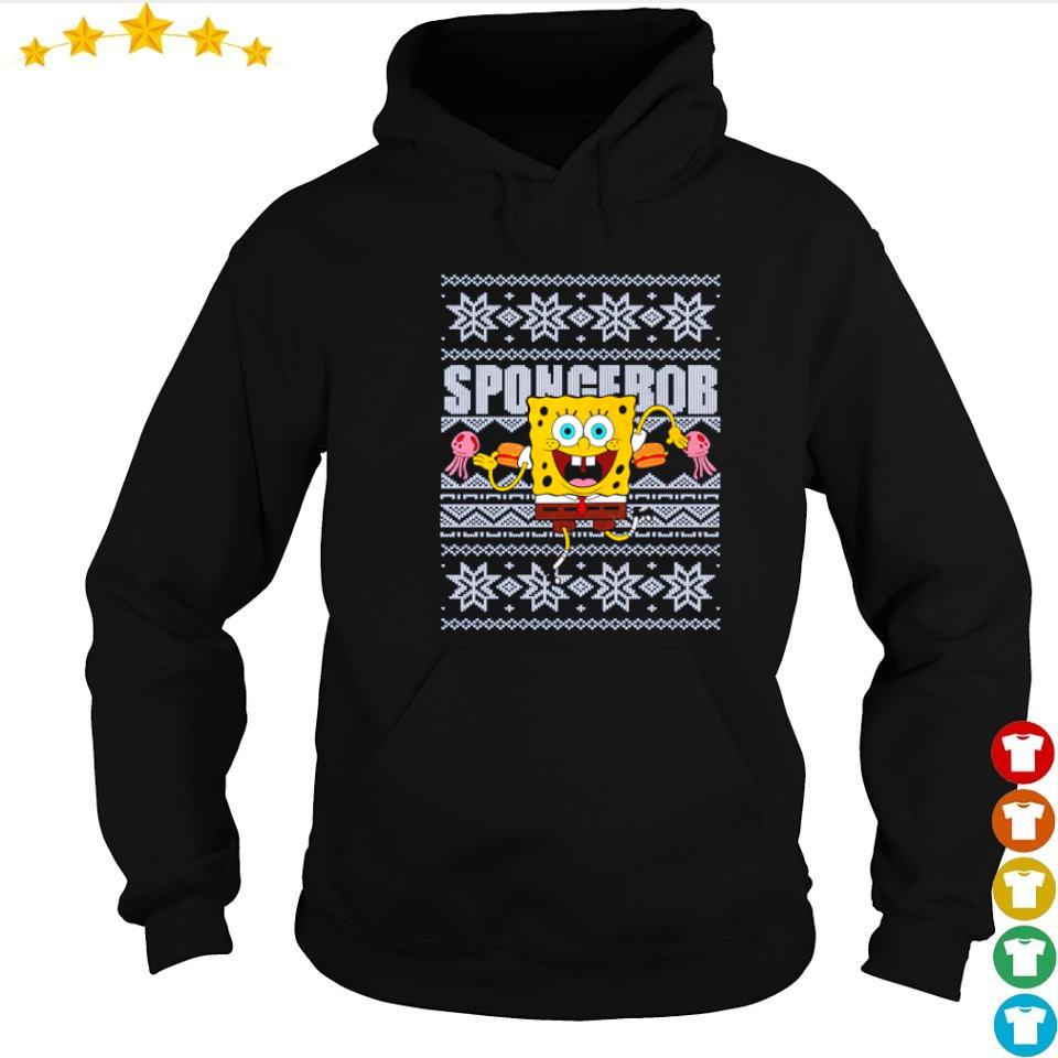 Awesome SpongeBob merry Christmas 2020 sweater hoodie