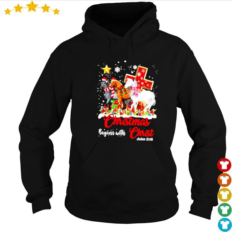 Christmas begins with Christ John 316 sweater hoodie