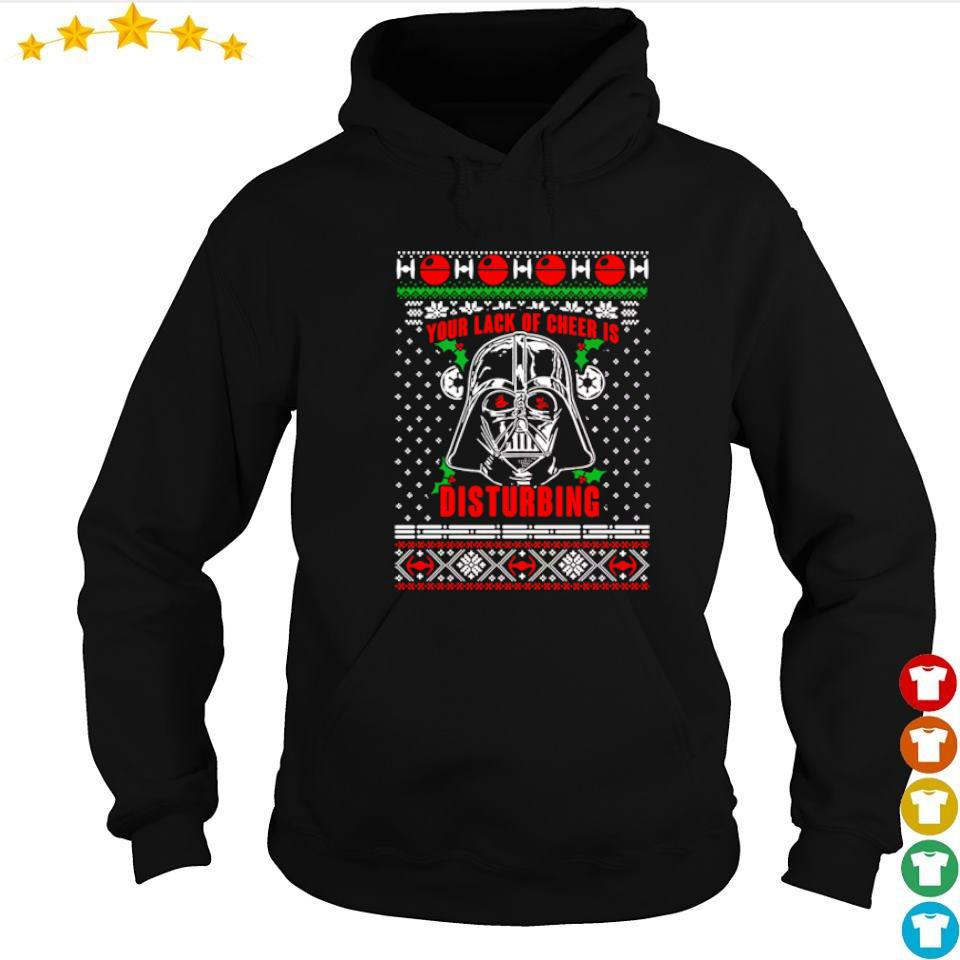Darth Vader your lack of cheer is disturbing Christmas sweater hoodie