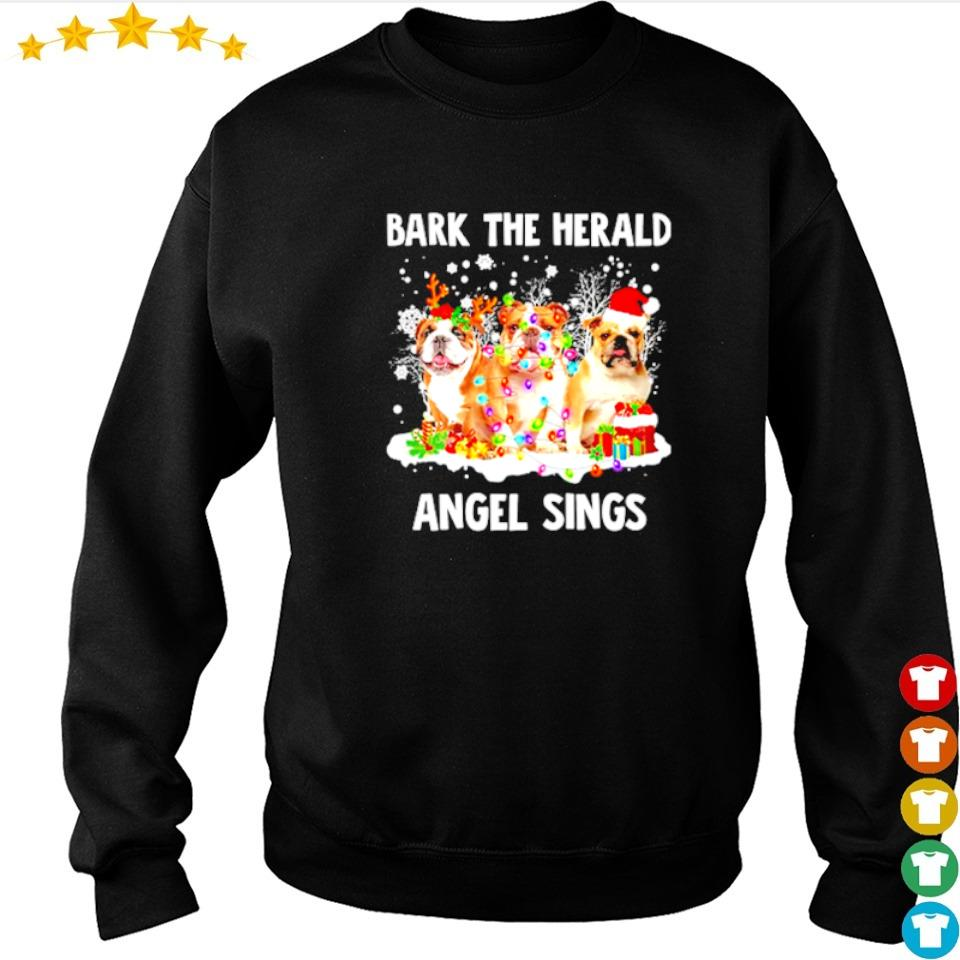 English Bulldog bark the herald angel sings merry Christmas sweater