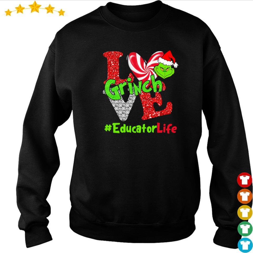 I love Grinch EducatorLife Christmas sweater