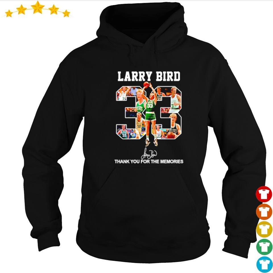 Larry Bird number 33 signature thank you for the memories s hoodie
