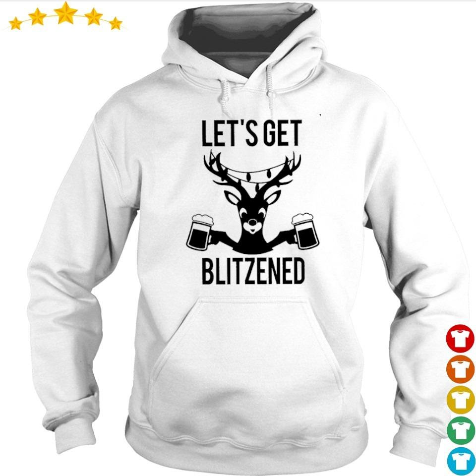 Reindeer let's get blitzened happy Christmas sweater hoodie
