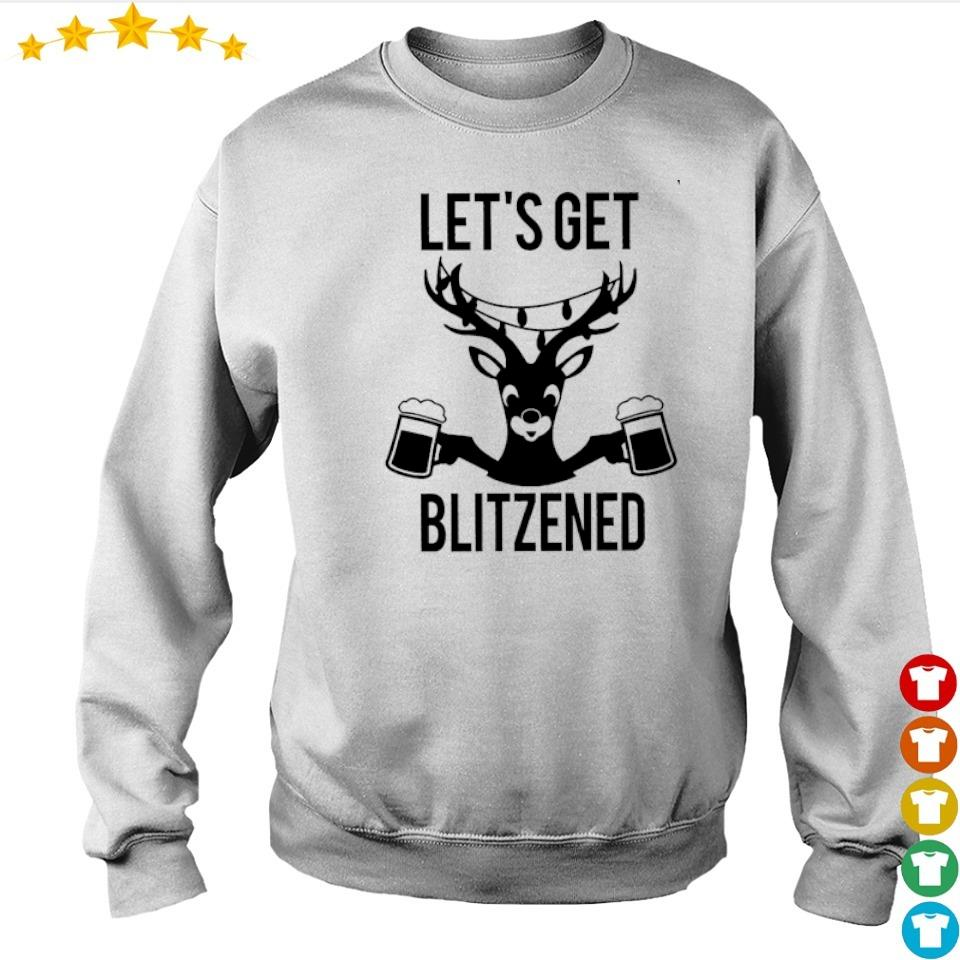 Reindeer let's get blitzened happy Christmas sweater