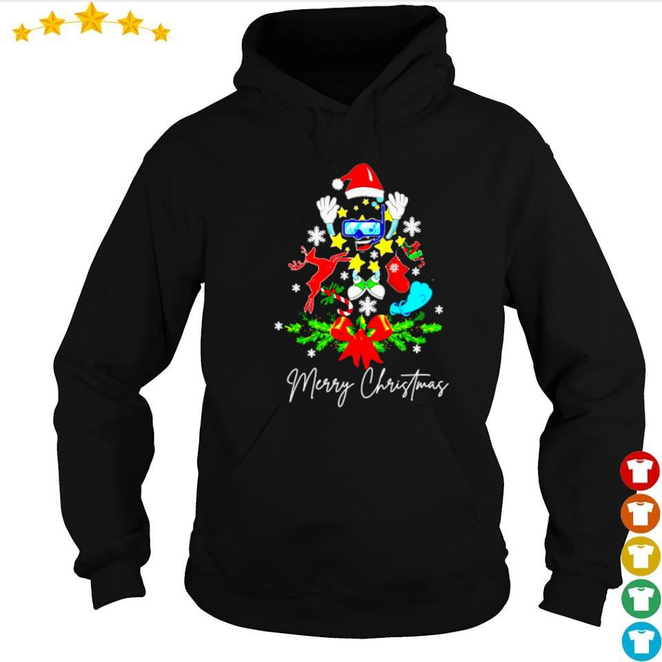 Scuba tree merry Christmas sweater hoodie