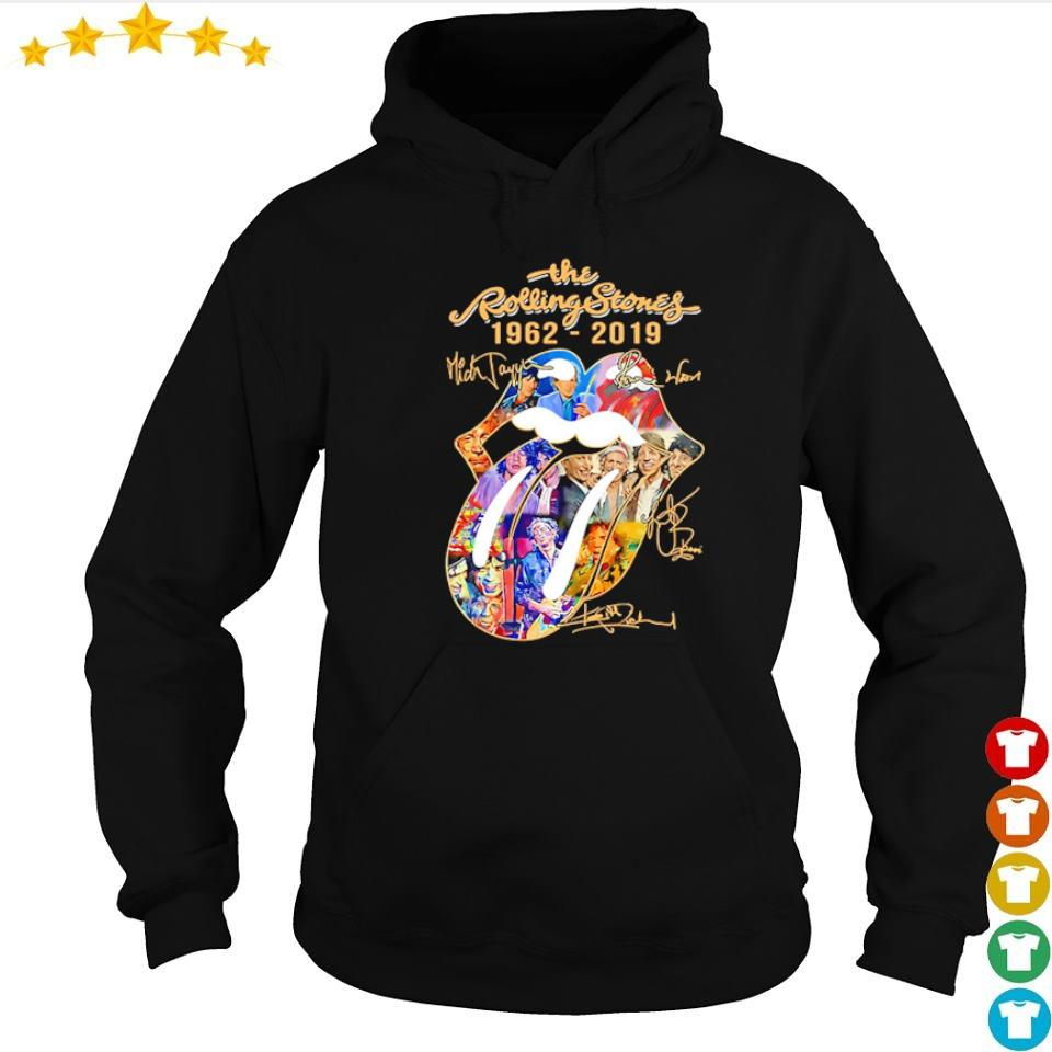 The Rolling Stones 1962 2019 signatures s hoodie