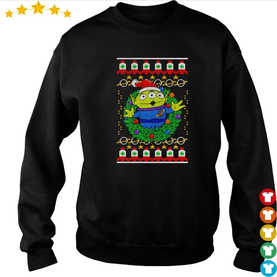 Toy Story alien wreath merry Christmas sweater