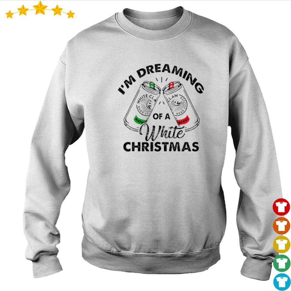 White Claw I'm dreaming of a white Christmas sweater