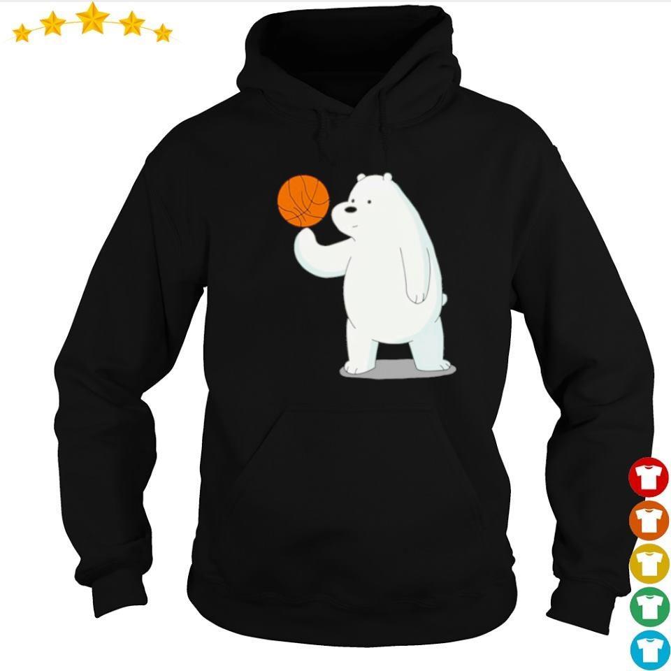 Bear playing basketball s hoodie