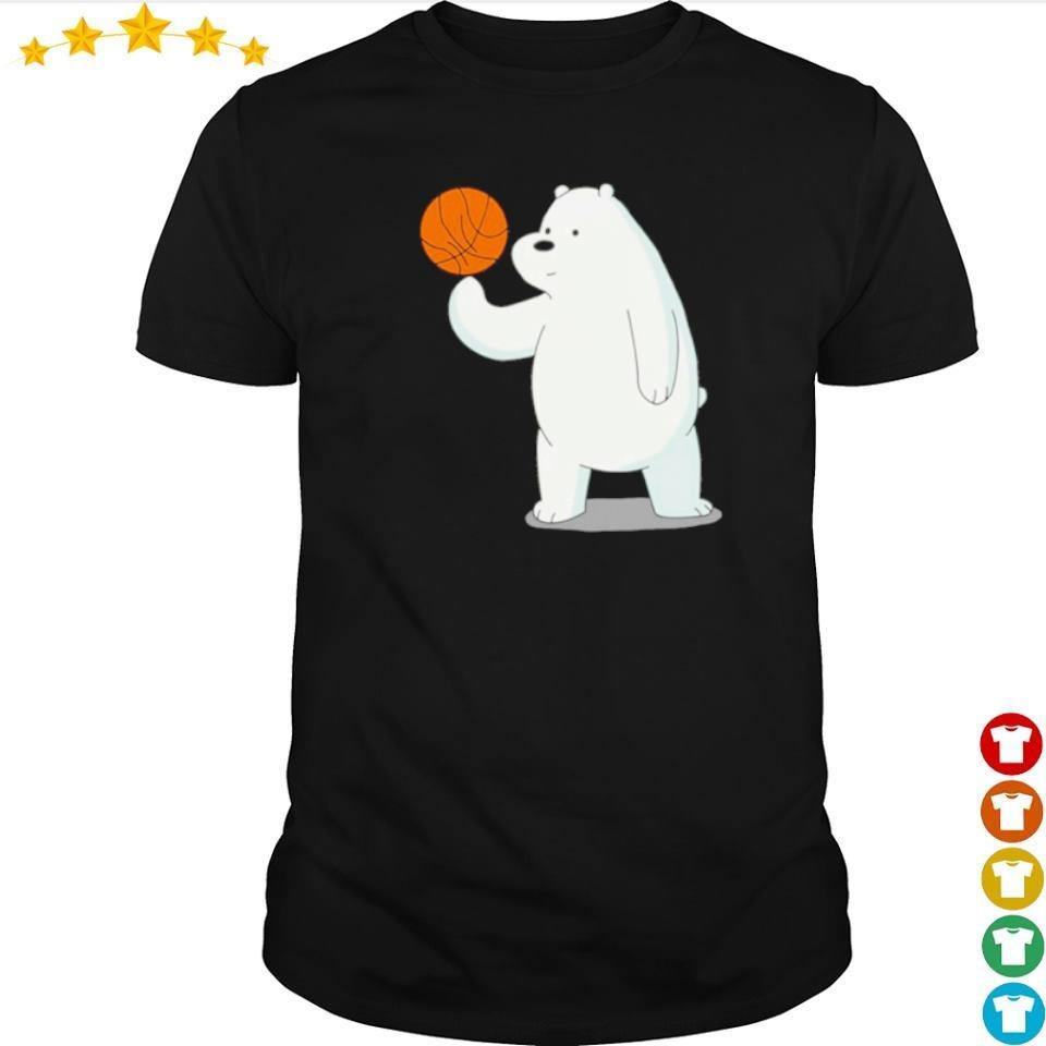 Bear playing basketball shirt