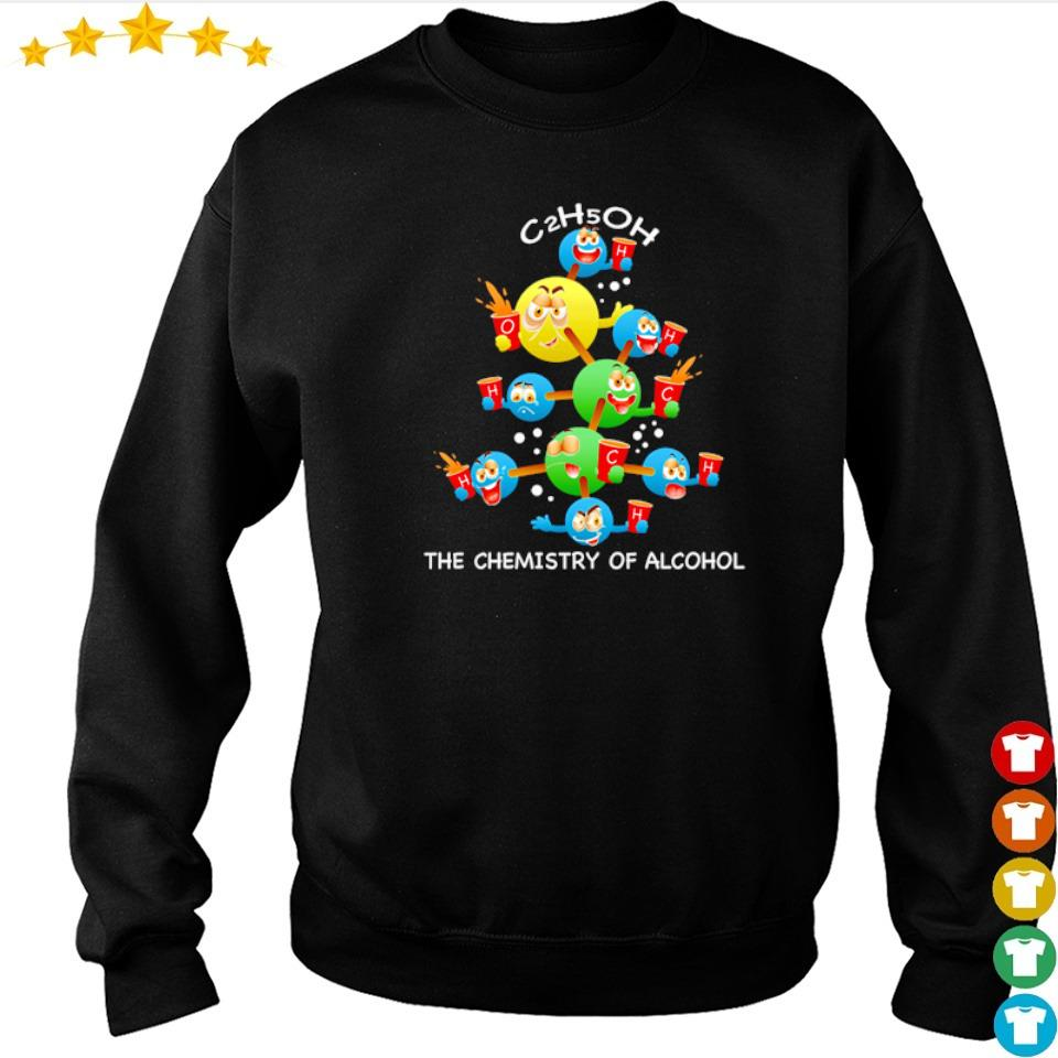 C2h5oh the chemistry of alcohol merry Christmas sweater