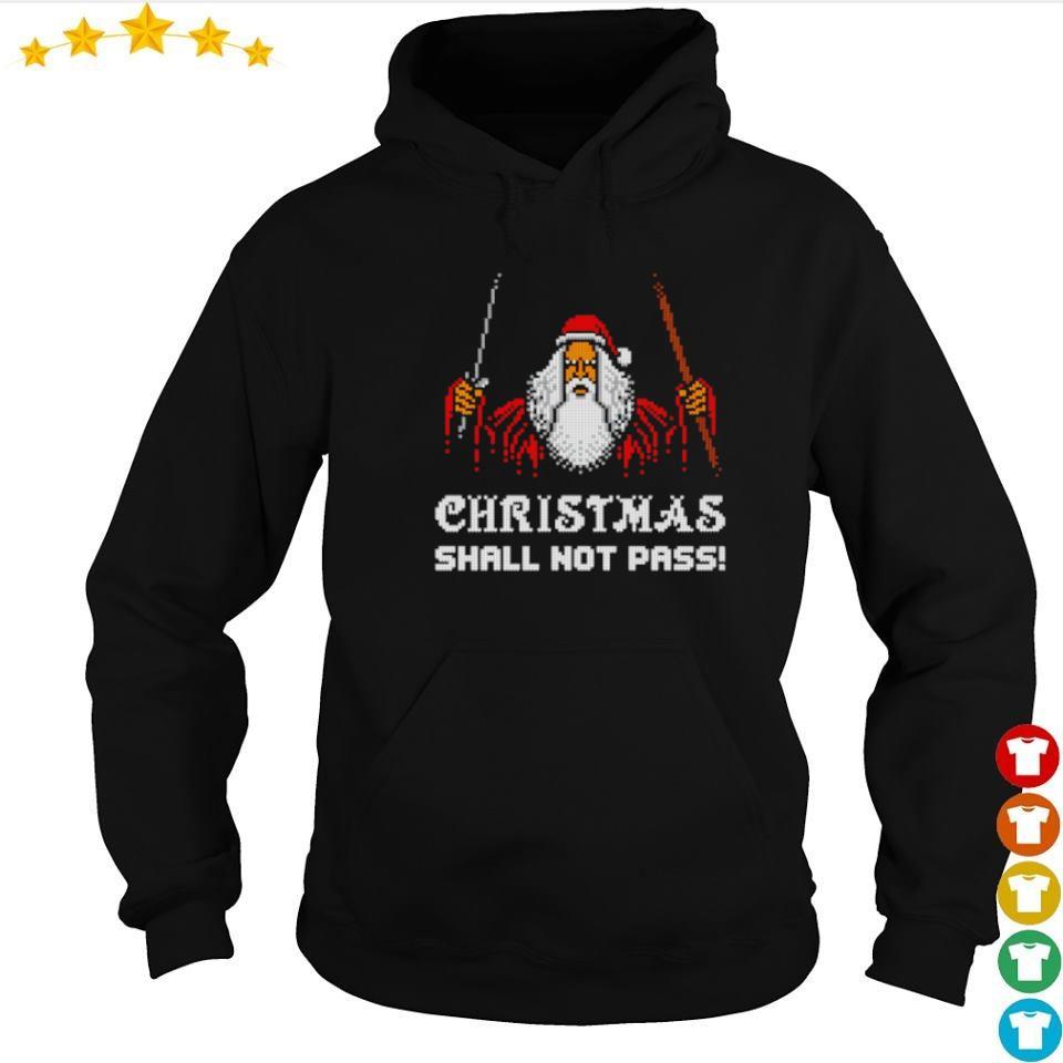 Dumbledore Christmas shall not pass sweater hoodie