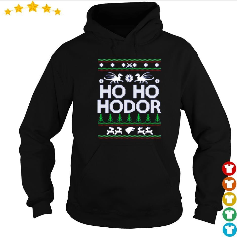 Ho ho hodor merry Christmas sweater hoodie