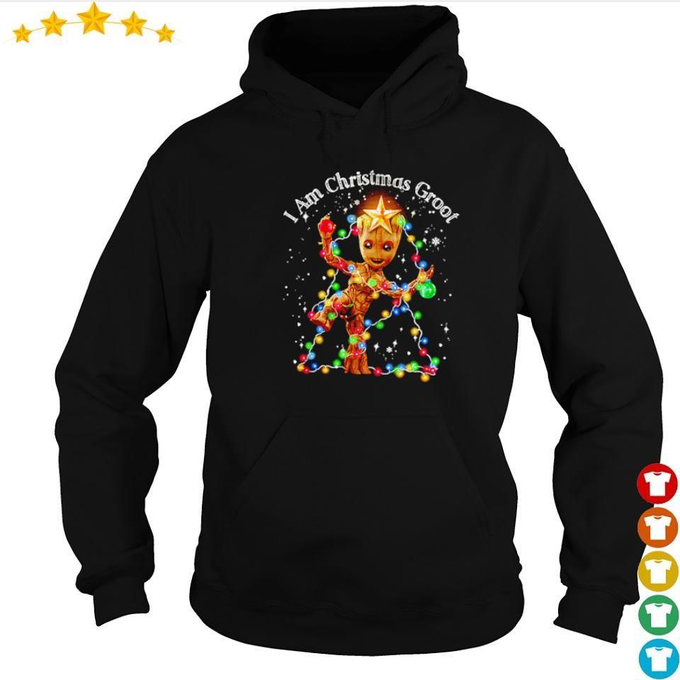 I am Christmas groot light sweater hoodie