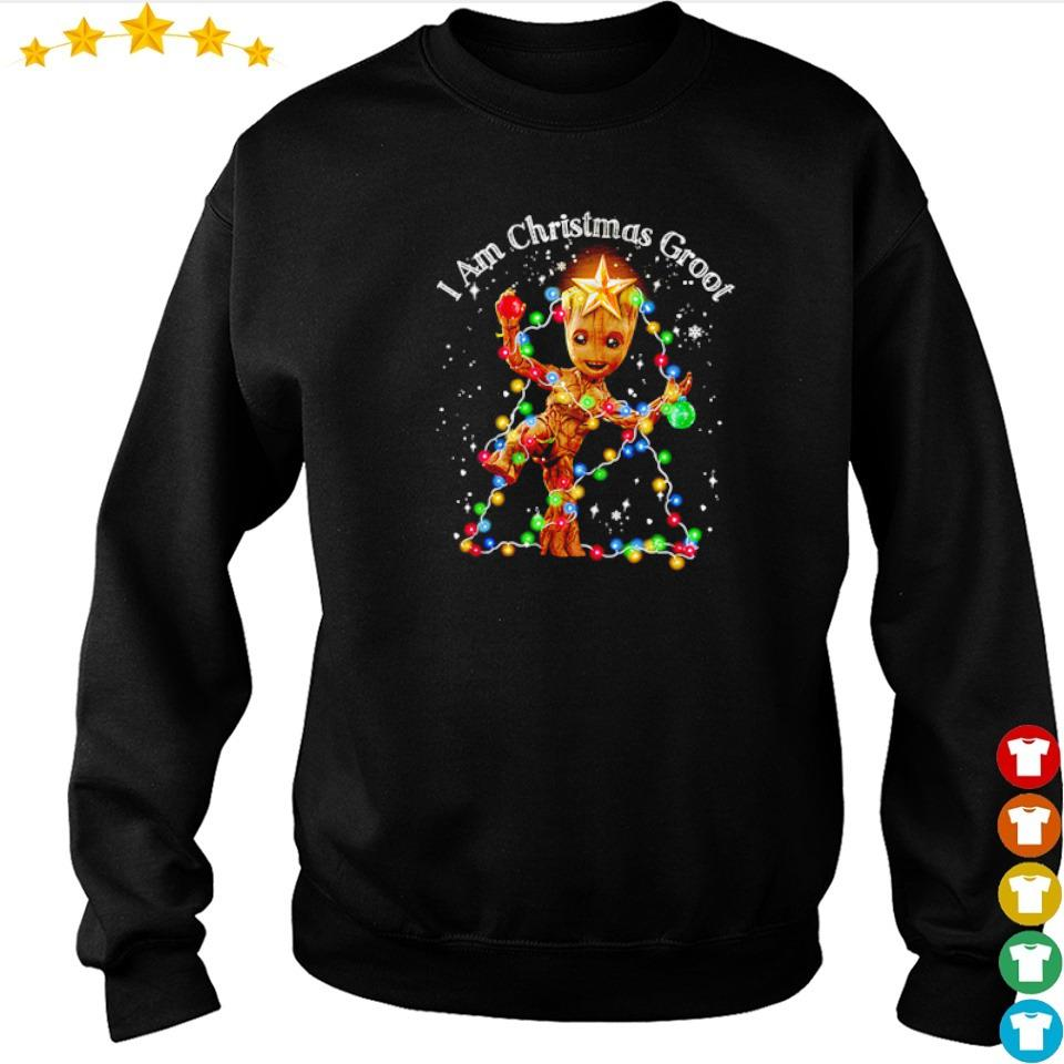 I am Christmas groot light sweater