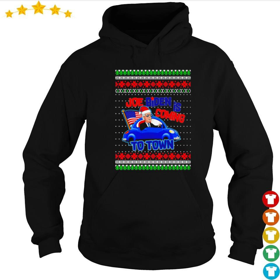Joe Biden is coming to town merry Christmas sweater hoodie