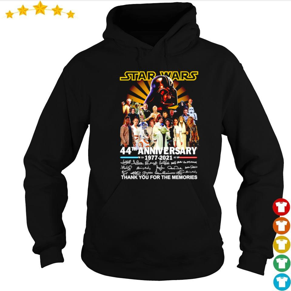 Star Wars 44th anniversary 1977 2021 thank you for the memories s hoodie