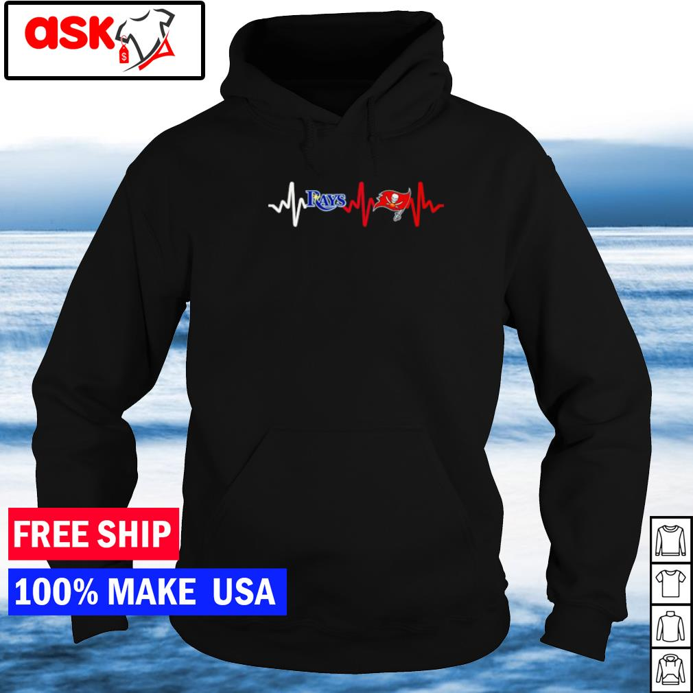 Heartbeat Tampa Bay Rays and Tampa Bay Buccaneers s hoodie