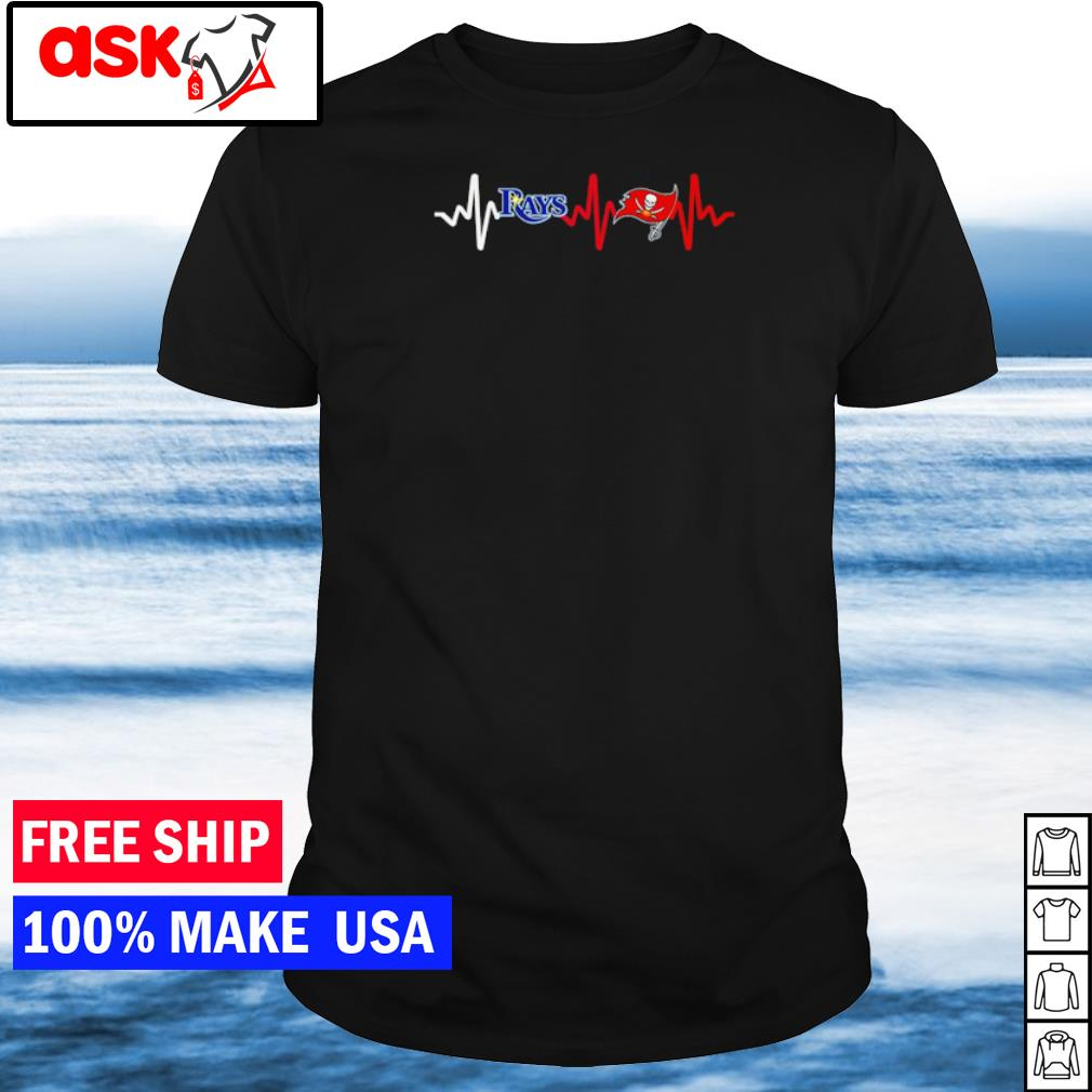 Heartbeat Tampa Bay Rays and Tampa Bay Buccaneers shirt