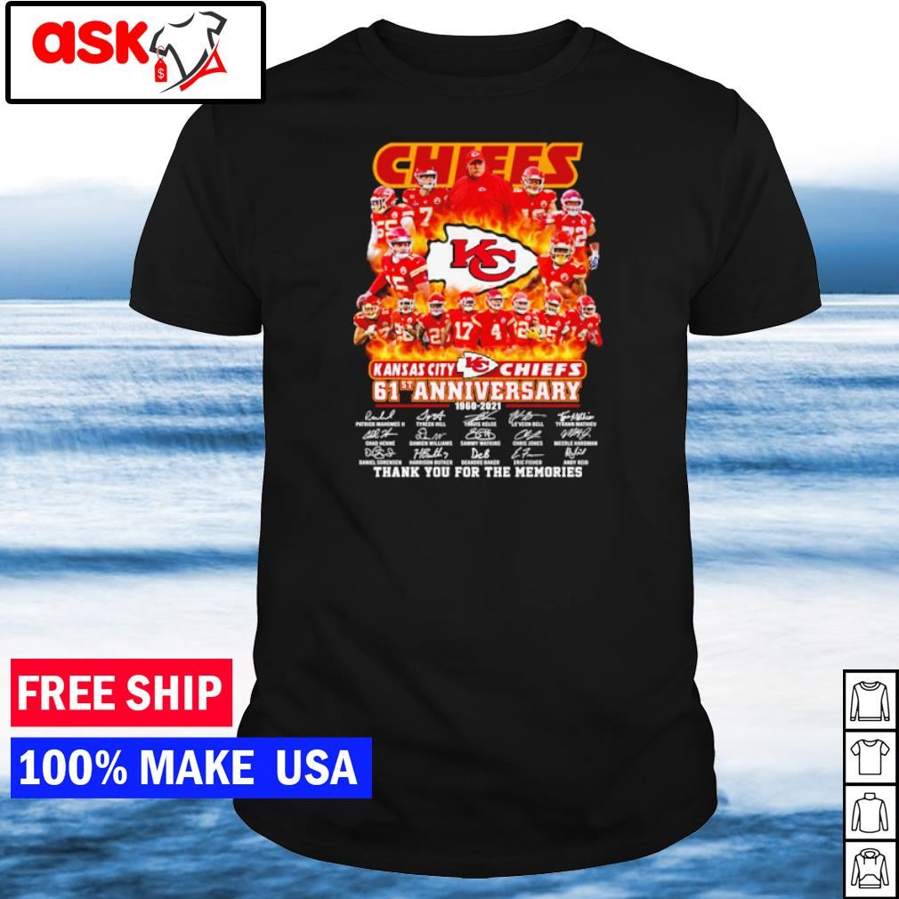 Kansas City Chiefs 61st anniversary thank you for the memories shirt