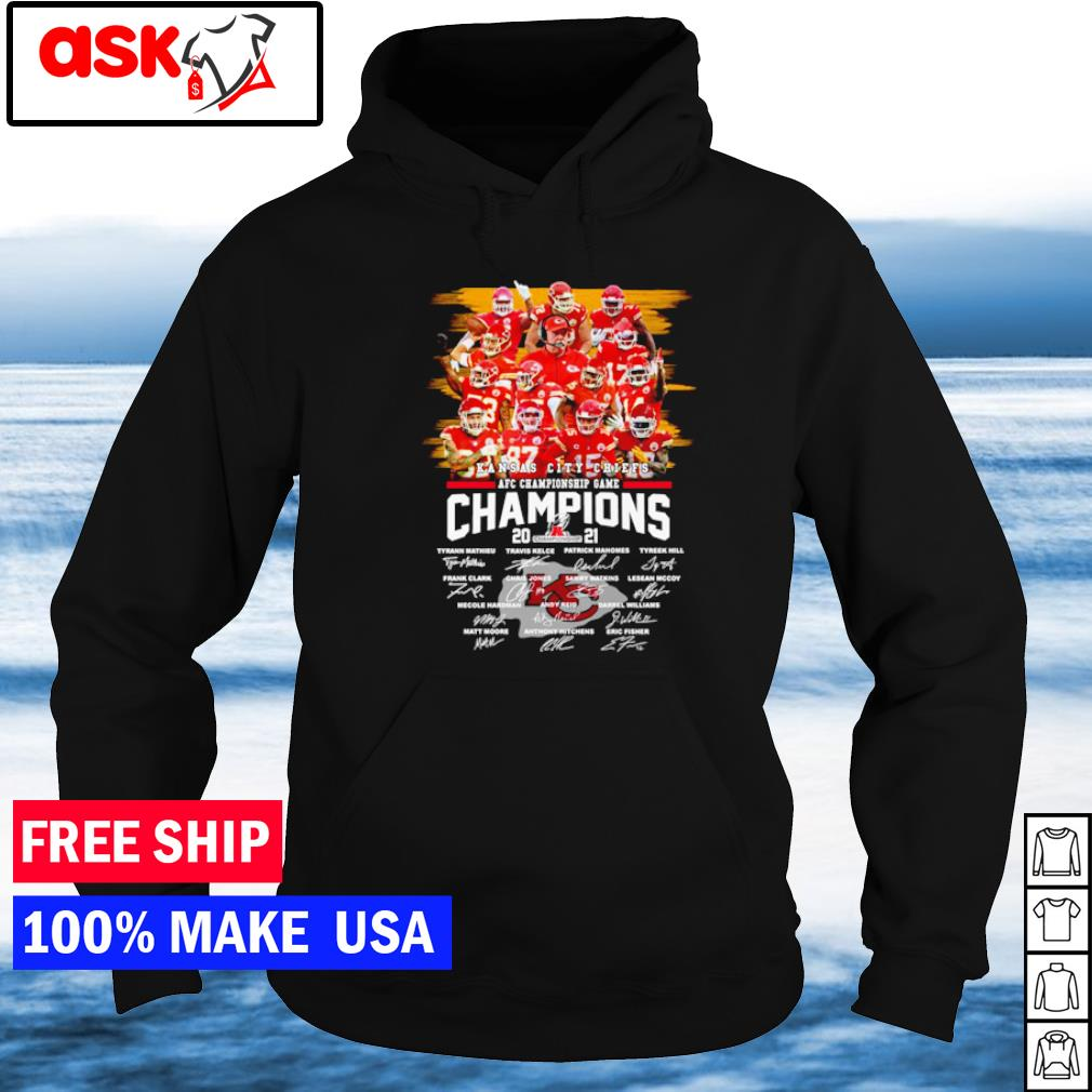 Kansas City Chiefs AFC Championship Game signature s hoodie