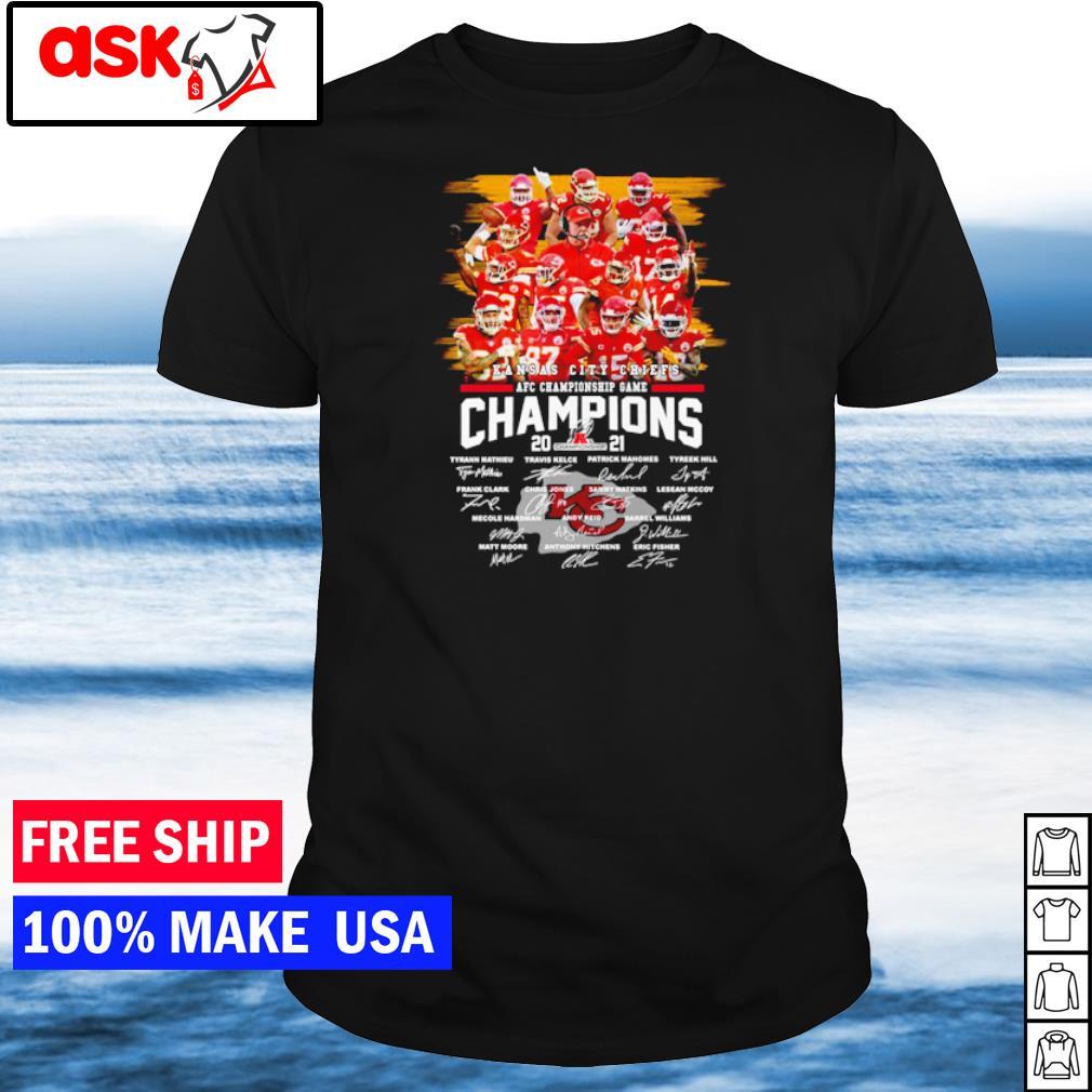 Kansas City Chiefs AFC Championship Game signature shirt