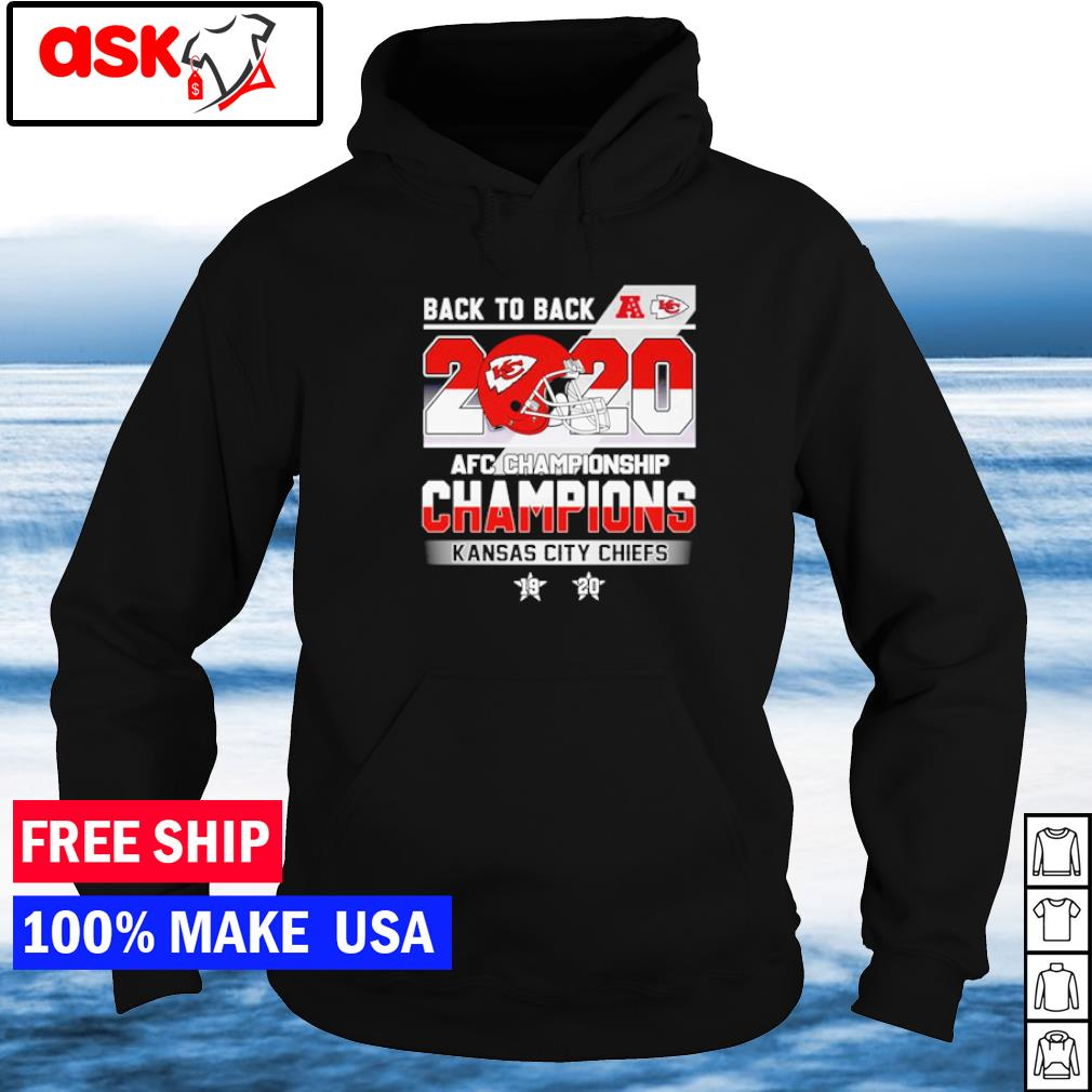 Kansas City Chiefs back to back AFC Championship Champions s hoodie
