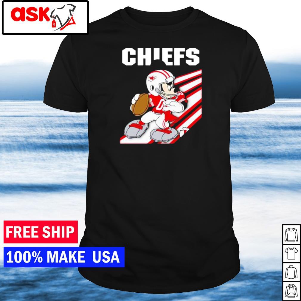 Kansas City Chiefs Mickey Mouse play football shirt